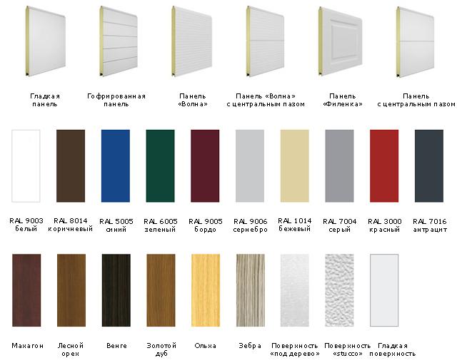 Дизайн и таблица цветов DoorHan